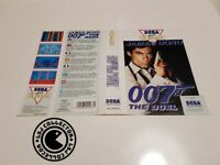 007 james bond the duel - Jaquette cover - master system - original