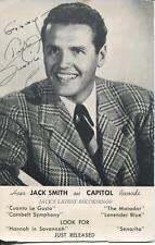 Smilin Jack Smith Autograph The Andy Griffith Show & Martha Tilton Signed Photo