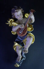 Engel im blauen Umhang - Holz geschnitzt - Höhe 24cm