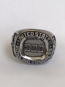United States 2009-2010 Bowling Congress 300 Ring Keepsake Sil.