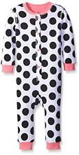 NWT Petit Lem Baby Girls White Black Polka Dot Puppy Dog Romper Pajamas 12 M