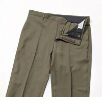 New Maison Martin Margiela Mens Slim Wool Trousers Khaki Sz 48 W33 RRP £535