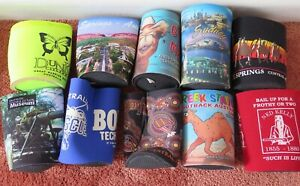 STUBBY HOLDERS  x 10 - BEER CAN - COOLER - GENUINE from Australia - NEW