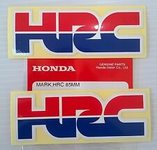 2 x HONDA - HRC (Honda Racing Corporation) DECAL STICKER BADGE - L 85mm x H 30mm