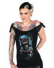 Too Fast Sugar Owl Talulah Tee Top Rockabilly Pinup Goth Punk Retro Hot Topic M