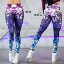 Womens Yoga Pants Fitness Leggings Running Gym Workout Sports Trousers UK 14-16