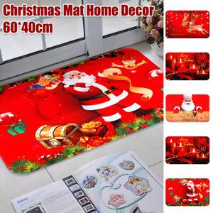 Merry Christmas Floor Door Mat Non Slip Indoor Doormat Rugs Mat Home Decor UK