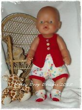 Honeydropdesigns  * PAPER KNITTING PATTERN #4 * For Baby Born/17 Inch Dolls