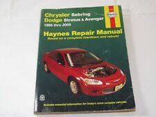 Automotive Repair Manual: Chrysler Sebring, Dodge Stratus Avenger 1995 Thru 2005