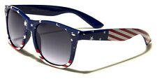 Patriotic  USA American flag Star Strip Sunglasses Vintage 80's Retro wayfarer