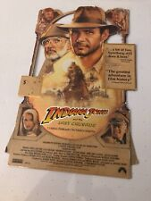 Indiana Jones and the Last Crusade Promo Vhs Cardboard Counter Stand Up Display