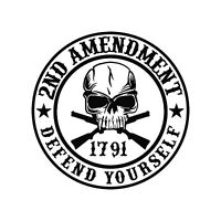 2nd Amendment Defend Yourself Car Window Decal USA Seller