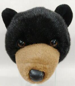 Stuff Plush Nature Wildlife Animal Black Bear Taxidermy Wall Mount Kid Room Hunt