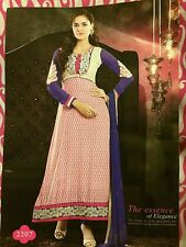 DESIGNER  BOLLYWOOD SALWAR KAMEEZ UNSTITCHED BY ROMA WITH EMBROIDERY