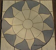 PAVING SLABS STONE PATIO SUN CIRCLE & SQ OFF KIT GARDEN (DELIVERY  EXCEPTIONS)