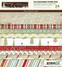 """My Mind's Eye """"The Merry Days of Christmas""""  Designer Paper Pad 24  Sheets NEW"""