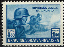 Croatia Germany Axis WW2 Battle of Stalingrad stamp 1943 MNH