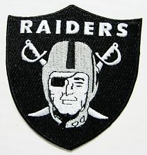 LOT OF (1) NFL OAKLAND RAIDERS LOGO SHIELD PATCH IRON-ON ITEM # 28