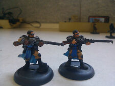 PRIVATEER PRESS-WARMACHINE-CYGNAR-LONG GUNNERS-PIP 31010-PARTIALLY PAINTED