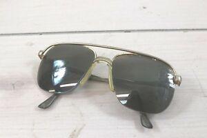 Vintage 1/2 Rim Top Rim Aviator Sunglasses Frames Only NY Flex