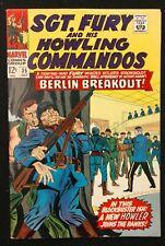 SGT.FURY HOWLING COMMANDOS #35 1966 SHARP GLOSSY VF CLASSIC HITLER  COVER!