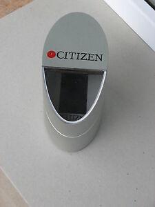 Citizen watch box gray plastic used rare empty case