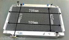"CUSTOM Universal Full Aluminum Radiator Oversize 31.4""wide 22.4""high 5.12"" thick"