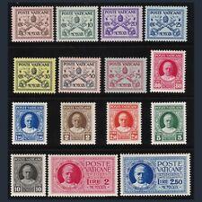 1929 Vaticano Serie Conciliazione n. 1/13+E1/2 Centrati Nuovi Integri **