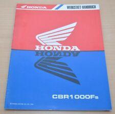 HONDA CBR1000F 1995 Technische Daten Shop Manual Nachtrag Werkstatthandbuch