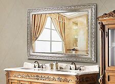 Hans&Alice Rectangular Large Wall Mirror Wood Frame Vintage Silver 37.5X26 Inch