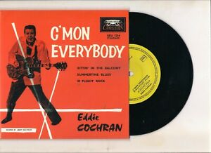 rare reédition EDDIE COCHRAN : c'mon everybody + 3