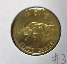 HONG KONG  Commemorative 50 cents coin 1997 Ox  UNC/BU  #3