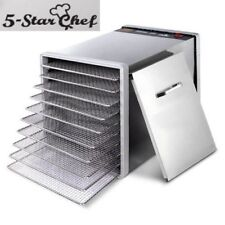 10 Tray Food Dehydrator Commercial Stainless Steel Fruit Dryer Jerky Maker 304