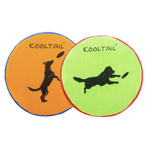 (2 Pack) Dog Flying Frisbee Disc Durable Interactive Dog Water Toys Fetch Floats