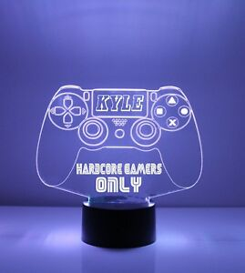 PS4 Personalized LED Playstation Video Game Controller Night Light Lamp