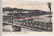 (108875) AK Crossen, Oder, Krosno Odrzańskie, Brücke, Lastkähne 1940