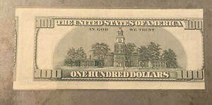 $100 DOLLAR BILL OFFSET PRINT ERROR MISALIGNED REVERSE FIRST PRINT 1996 FRN NOTE