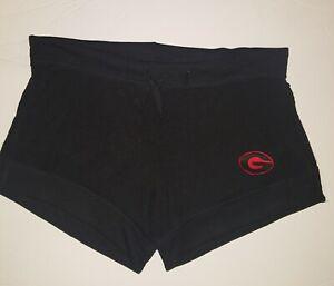 WOMEN'S  UGA Georgia Bulldogs Black Red Lounge Shorts XS Dawgs Cute NWOT