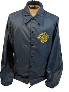 Vintage Champion Notre Dame Fighting Irish Lightweight Button Jacket Size L / XL