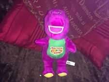 "BARNEY 12"" SOFT TOY PURPLE DINOSAUR WITH SOUND UNPLAYED WITH"