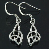 Handcrafted Pure Sterling Silver 925 Celtic Knot Spiral Earrings