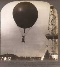 1904 KEYSTONE STEREOVIEW AERONAUT TOMLINSON & BALLOON AT ST LOUIS WORLDS FAIR