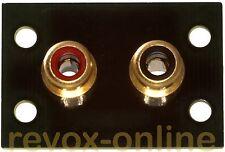 Distanza estensione della cinchbuchsen NERO REVOX b740 B 740 l'originale 15 mm