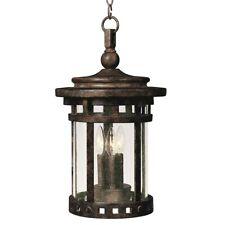 Maxim Santa Barbara Cast 3-Light Outdoor Hanging Lantern Sienna - 3138Cdse