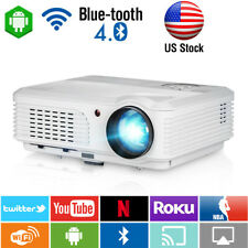New listing Andriod Blue-tooth Lcd Led Hd Projector Video Home Theater Film Hdmi Us Miracast