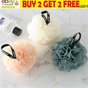 Exfoliating Large Body Scrubber Sponge Flower Brush Puff Bath Mesh Shower NL