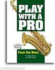 Play With A Pro Tenor Sax LEARN TO SAXOPHONE Music Lesson Book Online Audio