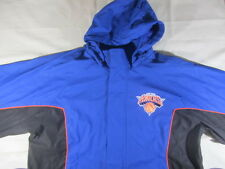 NEW YORK KNICKS NBA BASKETBALL TRACK JACKET HOODED LINED MEN'S LARGE