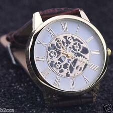 Luxury Men Watch Analog Rome Faux Leather Band Dial Quartz Business Wrist Watch