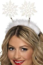 Noël pour femmes Flocon de neige blanc Boppers Bandeau Accessoire déguisement
